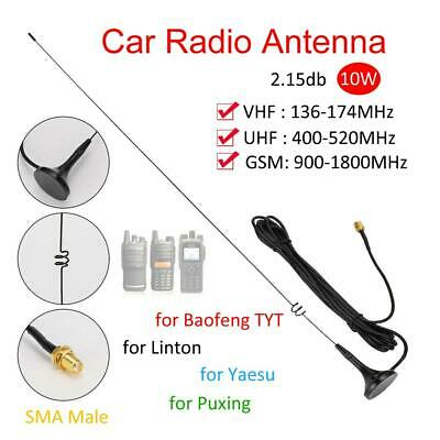 F48C SMA-F Band UHF VHF Magnetic Car Vehicle Antenna For BaoFeng UV5R ICOM