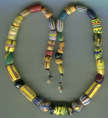 African Trade beads Vintage Venetian glass beads nice mixed old fancy necklace