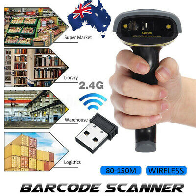 2.4G Wireless Barcode Scanner Handheld Bar Code + 360° Adjustable Stand Holder D