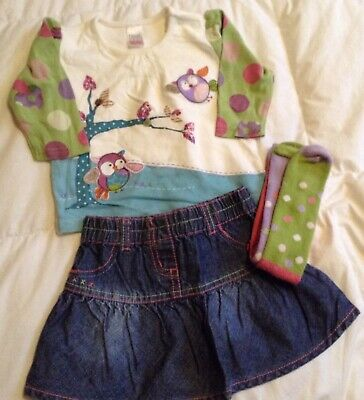 NEXT Girls Skirt Outfit 3-6mths