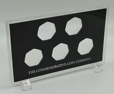 Free Standing Acrylic Glass Display/Presentation Case 50p Coins/Commemoratives
