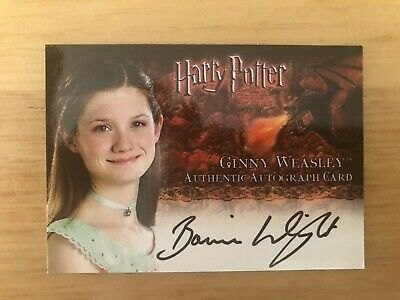 Harry Potter Goblet Of Fire Ginny Weasley Bonnie Wright Autograph Card