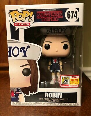 Funko Pop! ROBIN SCOOPS AHOY Stranger Things SDCC 2018 Fundays Exclusive