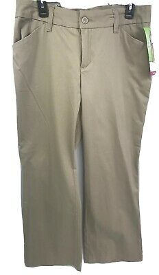 NWT RIDERS BY LEE Women Khakis Pants Size 12P Petite Curvy Fit Mid Rise Trouser