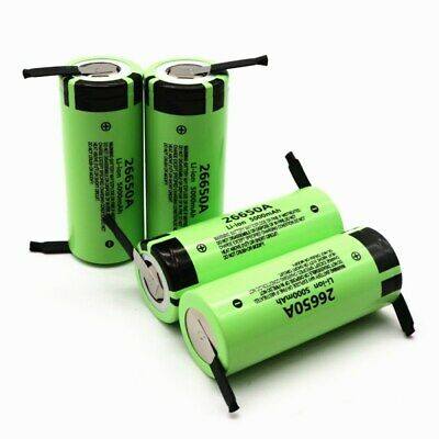 For Panasonic 26650A 5000mAh High Drain Li-ion Rechargeable Battery with Tabs