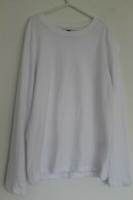 Boys 100% organic white cotton H&M Hennes 8-10Y Tshirt top BNWT