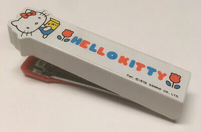 Hello Kitty Stapler Sanrio 1976 Vintage White
