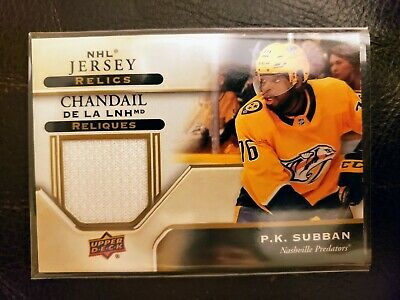 2019-20 Upper Deck Tim Hortons Game Used Jersey Relics Pk Subban Redemption Rare