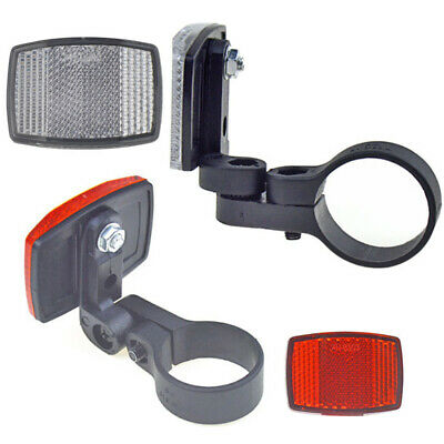 New Dekton 2pc Clip On Red /& White Led Reflector Light Bike Cycle Joggers Safety