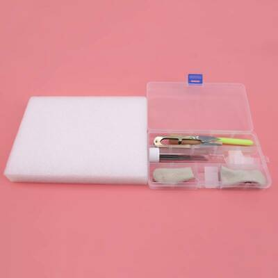 Needle Felting Starter Kit Wool Felt Tool Needles Handle Mat Holder Craft 6N
