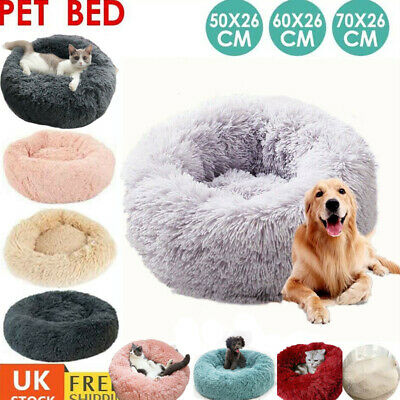 Comfy Calming Dog Cat Bed Round Super Soft Plush Pet Bed Marshmallow Cat Bed XXL
