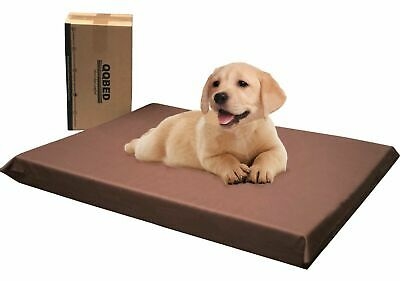 XL Brown Gel Memory Foam Pet Bed Pillow Waterproof Washable Cover for Large Dog