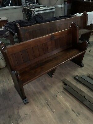 Pitch pine church pews