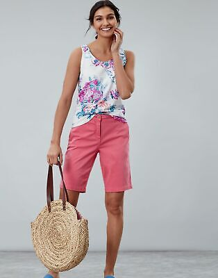 Joules Womens Cruise Long Chino Shorts in PINK