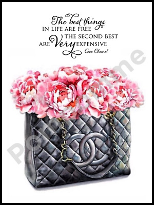 Coco Chanel Fashion Print Quote Digital Art Picture Wall Decor Bedroom Gift A4