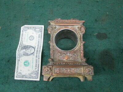 Very Cool Carriage Clock Case Only Goat Heads Very Fancy Old Clock Parts Estate