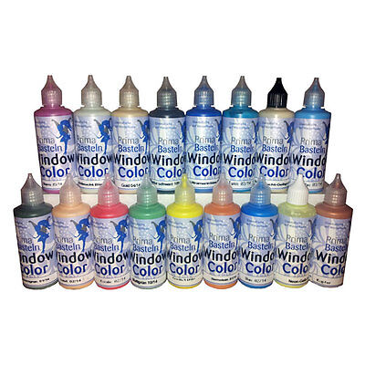 (100 ml=1,50EUR) Window Color Set 25 Farben je 80 ml