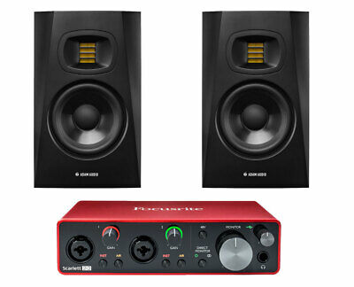 "2x ADAM T5V 5"" Studio Monitor + Focusrite Scarlett 2i2 3rd Gen Audio Interface"