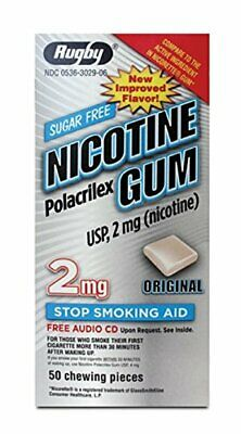 5 Paquet Rugby Nicotine Gomme sans Sucre Original 2 MG 50 Pièces Each 250 Total