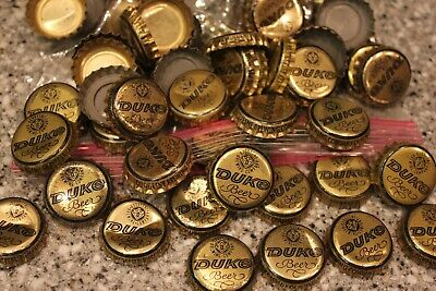 139 Vintage Duke Duquesne Beer Bottle Caps With Dents Gold No Gunk Free Shpg