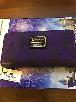 NWT Disney Parks Loungefly Haunted Mansion Zippered Wallet Clutch - HM Wallpaper