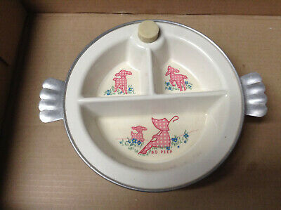 Vintage Excello Divided Baby Food Warmer Bo Peep
