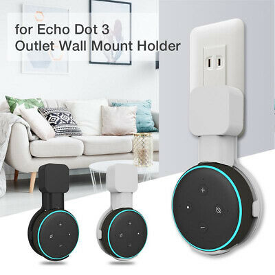 Outlet Wall Mount Hanger Holder Stand Socket for Amazon Echo Dot 3rd Generation=