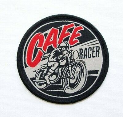 Patch Ecusson Brode Cafe Racer Motorcycle Racing Vintage Biker Thermocollant