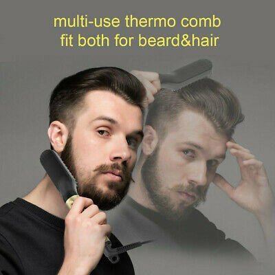 Quick Beard Straightener Hair Styler Multifunctional Comb Curler Show Cap Men