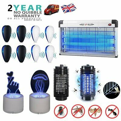 12W/20W/30W Electric Fly Insect Bug Pest Mosquito Killer Zapper Catcher LED Lamp