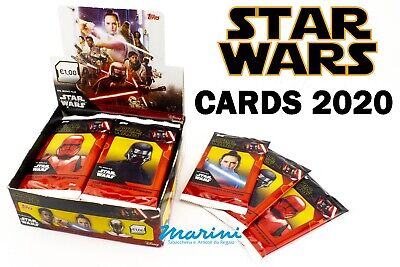 Topps 2020 Trading Cards Stars Wars - L'ascesa Di Skywalker Box 30 Bustine Nuove