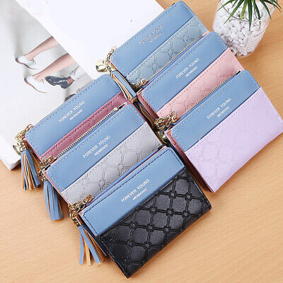 Bifold Women's Fashion Coin Purse Wallet Clip ID Card Holder Leather Wallets