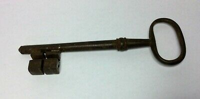 Antique Hand Forged Georgian Iron Key Chateau Key 5.5""