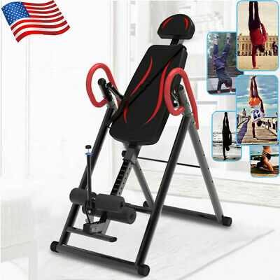 Inversion Table Back Therapy Fitness Pain Hang Gravity Relief Heavy Duty Hot ❤️