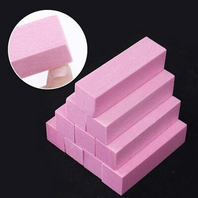 1 Set Pink White Form Nail Buffers File For UV Gel White Nail File Buffer Block
