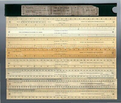Eyre & Spottiswoode Draughtman's Set Of Cardboard Scales