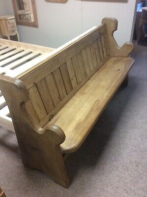 Welsh Pitch Pine Church Pew Victorian