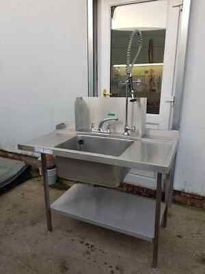 Dishwasher Stainless Steel Sink With Rinse Arm/ Mixer taps (1300mm x 750mm)