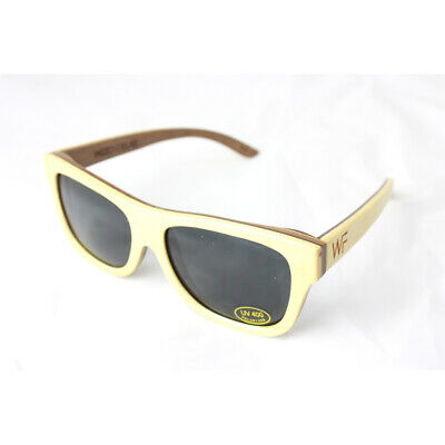 Original Holz Sonnenbrille aus 100/% Natural BambusCool Sommer LookWeiss