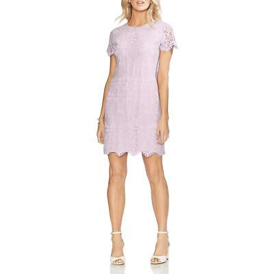 Vince Camuto Womens Lace Scalloped Above Knee Shift Dress BHFO 3122