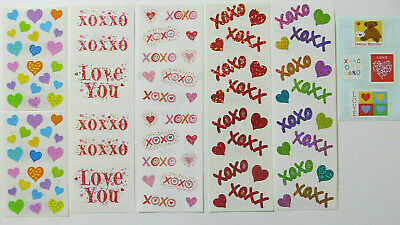 Mrs Grossman/'s HANGING HEARTS Stickers SPARKLE LOVE VALENTINE MOTHERS DAY NEW