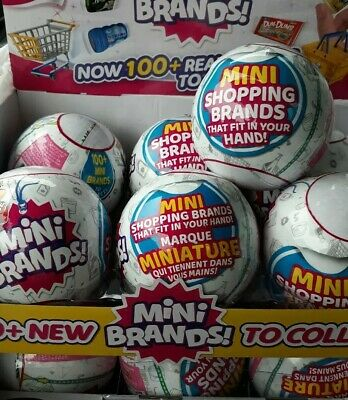 Surprise Mini Brands Zuru 1Ball 5 figures New Sealed LOWShip dollhouse miniature