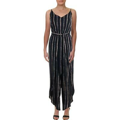 Aqua Womens Striped Wide-Leg Split Jumpsuit BHFO 7310