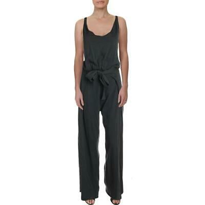 Grey State Womens Giselle Green Wide Leg Heathered Jumpsuit Juniors 1 BHFO 4473