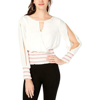 Abetteric Womens Cross Two Piece Belted Long Sleeve Slim Top Shirts Pants