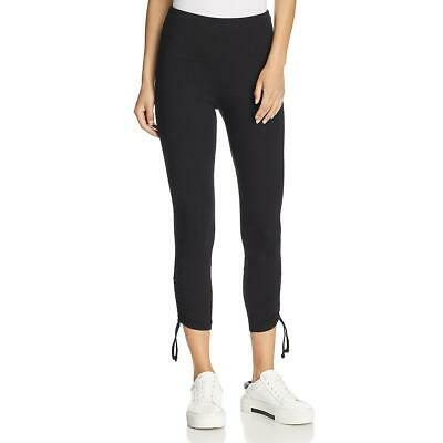 Lysse Womens Black Cropped Side Tie Ruched Leggings S BHFO 4054