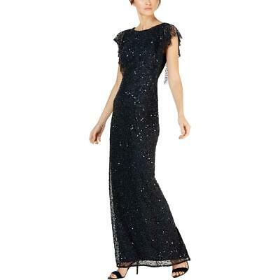 Adrianna Papell Womens Cold Shoulder Beaded Formal Evening Dress Gown BHFO 9672