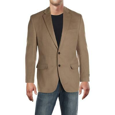 Lauren Ralph Lauren Mens Beige Wool Two-Button Blazer Jacket 38 BHFO 1207