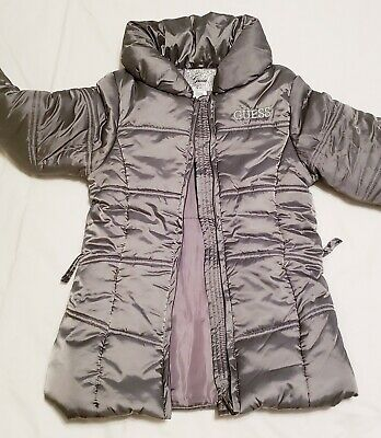 Guess Girls Size L (14) Down Coats silver/gray color