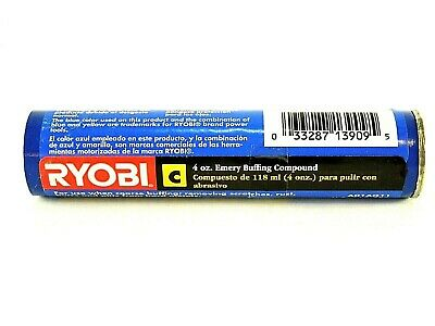 Emery Buffing Compound C Ryobi 4oz Course Buff Remove Scratches Rust Burrs Pitts